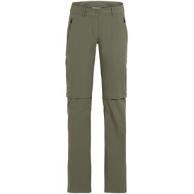 VAUDE Farley Stretch Zip-Off Pants Women, cedar wood